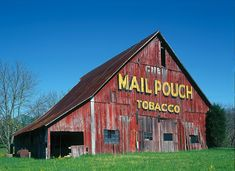Mail Pouch Tobacco sign on old barn near Nashville, Indiana