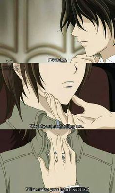 Kaname Kuran & Yuuki. #Vampire Knight wait I know! It's Zero that makes her heart beat faster :)