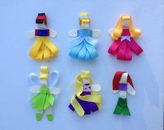 Disney Princess Hair Bow Clips Ribbon Sculpture. by sweetlilbows, $11.00