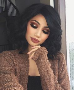 34 Fascinating Fall Makeup Ideas for this Autumn - Glam - Makeup Glam Makeup, Cute Makeup, Pretty Makeup, Skin Makeup, Makeup Tips, Makeup Tutorials, 2017 Makeup, Makeup Trends, Makeup Products