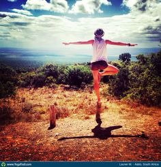 #Yoga Poses Around The World: Tree Pose taken in Addo, South Africa by Lauren M.