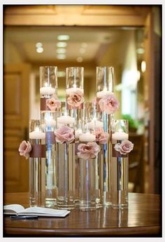 Decorations, Floating Candles Wedding Idea With White Candles And Yellow Flowers: The Ideas of Inexpensive Centerpieces for Weddings