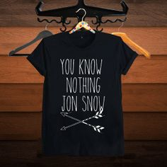 You Know Nothing Jon Snow Shirt Game of Thrones Shirts by SuzanTee, $17.97