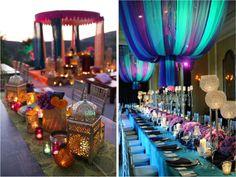 decoração luxuosa tema árabe