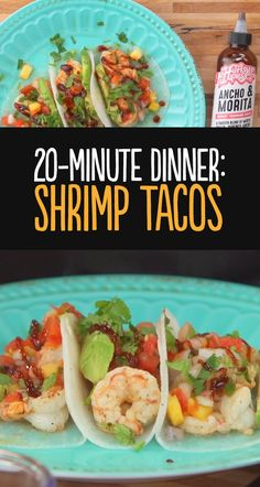 Watch Chef Charlotte make a 20 minute shrimp taco dinner with 170 calories per two taco serving. If you are looking to cut carbs or add more veggies to your diet, try swapping traditional flour or corn tortillas for fresh jicama tortillas instead. They have a mild flavor and fresh crunch that pairs nicely with shrimp, chicken and any type of fish.