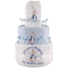 Personalised PETER RABBIT 3 Tier Nappy Cake BLUE BOY   eBay