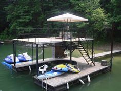 Multi functional dock system! If you can dream it up. We can build it for you! Call us today for more information. 207-693-6997
