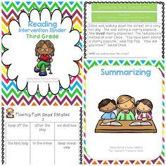 Third Grade Reading Intervention Binder
