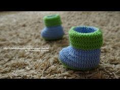 Sapatinho de bebê em crochê Amore - YouTube