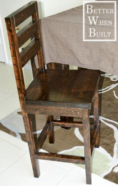 DIY Counter-Height Stool