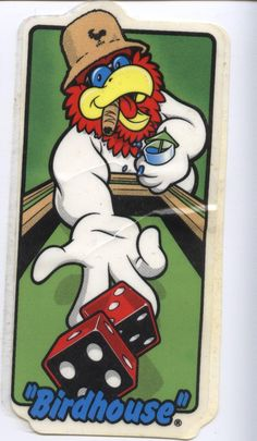 Birdhouse Skateboards Foghorn Leghorn Sticker Tony Hawk.  Click on picture to purchase.