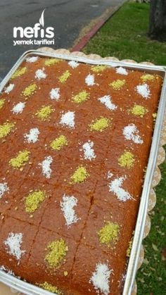 Revani (Full Scale) – sweet – # Dessert – About Sweets Yummy Recipes, Sweet Recipes, Yummy Food, Cake Recipes, Russian Honey Cake, Turkish Sweets, Turkish Kitchen, Fresh Fruit Cake, Fresh Fruits And Vegetables