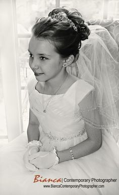 First Communion Photography, First Communion Photographer, Youngstown, Ohio  Copyright 2013 ©Bianca Collins  www.BiancaPhotog.com  email: info@biancaphotog.com First Communion Dresses, First Holy Communion, Little Girl Hairstyles, Bun Hairstyles, Lucy Loo, Sunshine Studio, Communion Hairstyles, Girls Updo, Youngstown Ohio