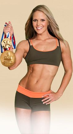 Nicole Wilkins has won soo many titles...she is definitely an inspiration to all who want to get in shape.  Whether you want to actually compete or just get into the best shape of your life, just look at her and you cannot help but be motivated.  Sure it won't be easy, but it will be rewarding in the end.