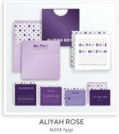 bat mitzvah invitations 5137