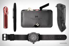 Keygoes Chili Keychain Pack ($19). Hard Graft Card Case ($59). Zero Tolerance Blackwash Knife ($170). TID Watch ($250). Fisher Space Pen ($18)....