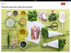 10 best apple ipad campaign featuring lookcook images on pinterest look cook app ingredients for tabuleh salad with crispy fish and tahini apple ipadfish fishfood forumfinder Choice Image