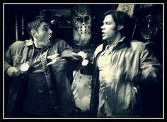 Sam and Dean are having fun this Friday the 13th. Don't you wish you were there with them?