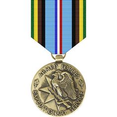 Armed Forces Expeditionary Medal Criteria: First created in the Armed Forces Expeditionary Medal (AFEM) is granted to personnel for their involvement i. Us Military Medals, Army Medals, Military Ribbons, Military Honors, Military Awards, Military Ranks, Military Insignia, Armed Forces Service Medal, Service Medals
