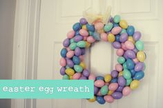 The Perfect Pear: 12 Days of Easter // Easter Egg Wreath DIY