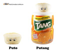 #Puto + Tang = Putang. Astronauts love it! Puto is a #Filipino steamed rice cake often eaten as dessert or breakfast. It is also a derogatory term in Spanish for gay males or prostitutes, but I assure you these puto are not prostitutes. These photos are what happens when you buy too much puto and have too much time. Enjoy and share because sharing is nice, and puto is rice. #philippines #meme #putang Filipino Memes, Filipino Funny, Steamed Rice Cake, Rice Cakes, Trump Kids, Astronauts, What Happens When You, Pinoy, Funny Relatable Memes