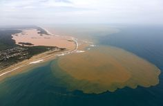Red Sludge From Brazilian Dam Collapse Reaches the Atlantic (21 photos)