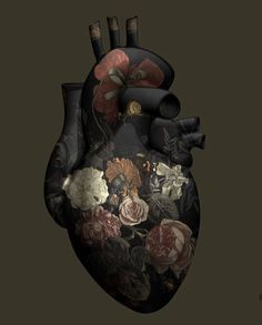Art credit / Magnus Gjoen My Heart is Yours Forever Medical Art, Anatomical Heart, Anatomy Art, Sacred Heart, Heart Art, Aesthetic Art, Black Art, Amazing Art, Art Drawings