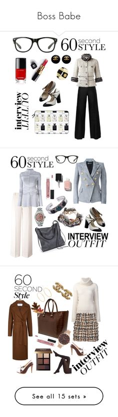 """""""Boss Babe"""" by michele-nyc ❤ liked on Polyvore featuring Chanel, Casetify, Balmain, T By Alexander Wang, Proenza Schouler, Ina Kent, Rolex, Maiden-Art, NOVICA and Anastasia Beverly Hills"""