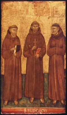 Maestro del Farneto - San Francesco d'Assisi tra santi francescani - 1275-1299 - Venezia, Collezione V. Cini