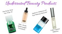 Current Underrated Beauty Products on http://www.briannamacias.com/blog/current-underrated-beauty-products  #teatreeoil #maccosmetics #callas #eyemakeupremover