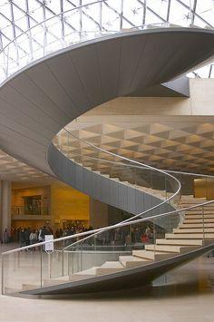 Spiral staircase, Le Louvre, Paris