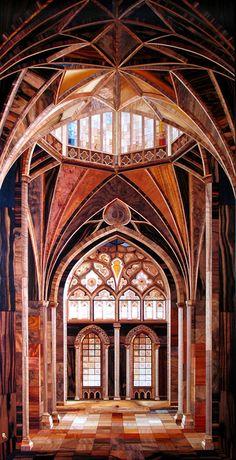 【正体に愕然】心がとろけそうなほどに美しい「寄木細工の大聖堂」のとんでもないクオリティ