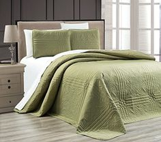 Dark SAGE Green Oversize Stella Grande Bedspread King/Cal King Embossed Coverlet Set 118 by Bedspreads Comforters, Coverlet Bedding, Green Bedding, Green Quilt, Home Decor Bedding, Bedroom Decor, Twin Size Bed Covers, Classic Bedding, Quilt Sets