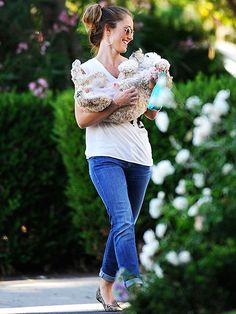 Minka Kelly with her cockapoo Chewy!