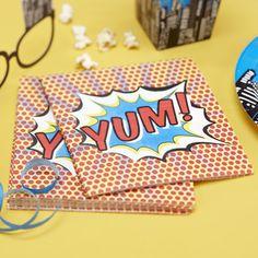 Pop Art Superhero Paper Napkins Pk 20 | Love To Cherish | Online Wedding & Party Accessories