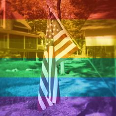 American Flag, with Facebook Pride filter.