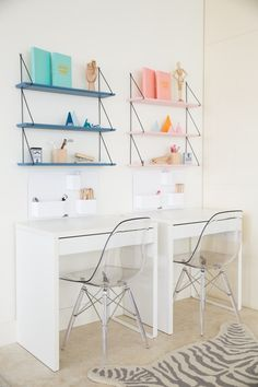 Her design firm, Little Liberty specializes in designing modern spaces for the home, with her particular niche being children's… Home Office Space, Home Office Design, Home Office Decor, Girl Bedroom Designs, Kids Bedroom, Bedroom Decor, Ikea Girls Room, Lego Bedroom, Minecraft Bedroom