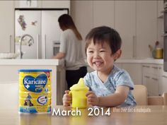 Caelum's first debut. Karicare Commercial 2014.