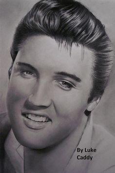 Luke Caddy's drawing of Elvis Presley