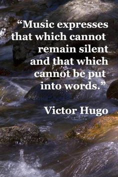 expression through music / love of music quotes / Victor Hugo Now Quotes, Great Quotes, Quotes To Live By, Life Quotes, Inspirational Quotes, Motivational Quotes, I Love Music, Music Is Life, Music Lyrics