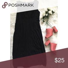 "GAP Black Maternity Maxi Dress Super cute basic black dress that can be dressed up or down.  Length 40"", bust 18"" GAP Dresses Maxi"