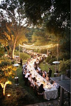 Long Outdoor Wedding Table Garden Wedding  Reception