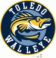 Toledo Walleye Alternate Logo on Chris Creamer's Sports Logos Page - SportsLogos. A virtual museum of sports logos, uniforms and historical items. Lacrosse, Hockey, Sports Art, Sports Logos, Typo Logo Design, Graphic Design, Toledo Walleye, Word Mark Logo, Fish Logo