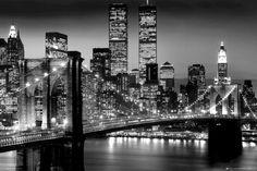 New York (Manhattan nocą) - plakat - 91,5x61 cm  Gdzie kupić? www.eplakaty.pl