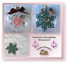 www.crochetmemories.com/blog Free pattern for a Victorian snowflake ornament