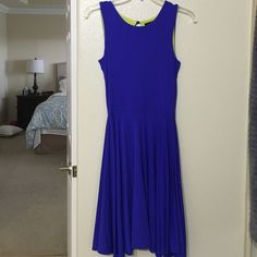 Cynthia Rowley dress  Blue Cynthia Rowley dress. Style is A line I would say but not very flare on the bottom. Very very comfortable easy to move in. Used one time on one occasion for a few hours. Brand new condition. Size XS but fits more like a small, usually am a size 4 so that would fit best Cynthia Rowley Dresses Asymmetrical