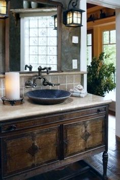 rustic bathroom | Tumblr This is what I want for my bathroom
