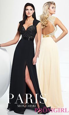 Open Back Sweetheart Gown 116706 from Paris by Mon Cheri at PromGirl.com