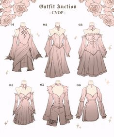Dress Design Drawing, Dress Drawing, Clothing Sketches, Dress Sketches, Fashion Design Drawings, Fashion Sketches, Kleidung Design, Old Fashion Dresses, Drawing Anime Clothes
