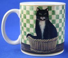 Oneida COUNTRY KITTIES Mug Cup Black Cat David Carter Brown | eBay